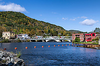 Scenic town of Shelburne Falls, Massachusetts, USA.