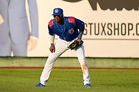 South Bend Cubs outfielder Alexander Canario (35) during a game against the Quad Cities River Bandits on August 20, 2021 at Four Winds Field in South Bend, Indiana.  (Mike Janes/Four Seam Images)