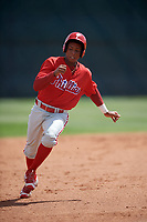 Philadelphia Phillies Malvin Matos (39) runs the bases during a minor league Spring Training game against the Pittsburgh Pirates on March 24, 2017 at Carpenter Complex in Clearwater, Florida.  (Mike Janes/Four Seam Images)