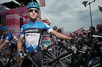 Giro d'Italia stage 13.Savano-Cervere: 121km..Christian Vandevelde before the race