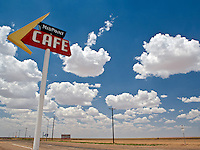 The Mid Point Cafe marks the exact half way mark along Route 66 from Chicago to Santa Monica Pier.