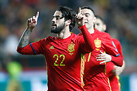 Spain's Isco Alarcon celebrates goal during FIFA World Cup 2018 Qualifying Round match. March 24,2017.(ALTERPHOTOS/Acero) /NortePhoto.com