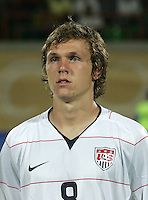 The United States' Jared Jeffrey (8) stands on the field before the match against South Korea during the FIFA Under 20 World Cup Group C match between the United States and South Korea at the Mubarak Stadium on October 02, 2009 in Suez, Egypt.