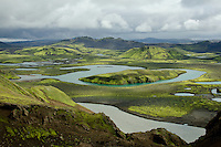 The vast untouched beauty of Sveinstindur Mountain and Skafta River of south/central Iceland.  Iceland.