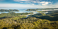 Morning views over Whanganui Inlet on west coast, Nelson Region, South Island, New Zealand