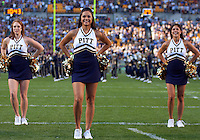 Pittsburgh cheerleaders. The Pittsburgh Panthers defeated the Navy Midshipmen 27-14 at Heinz Field, Pittsburgh, PA.
