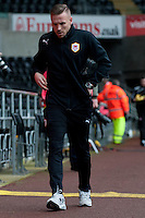 Saturday 2nd Febuaray 2014<br /> Pictured: Craig Bellamy arrives at the Liberty stadium<br /> Re: Barclays Premier League Swansea City FC  v Cardiff City FC at the Liberty Stadium, Swansea