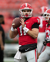 ATHENS, GA - OCTOBER 19: Jake Fromm #11 of the Georgia Bulldogs during a game between University of Kentucky Wildcats and University of Georgia Bulldogs at Sanford Stadium on October 19, 2019 in Athens, Georgia.