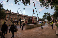 28.10.2013 - St Jude's Day Storm, Crane Collapsed on the Cabinet Office in Whitehall