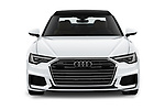 Car photography straight front view of a 2019 Audi A6 S-Line 4 Door Sedan Front View