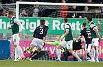 Luke Leahy scores for Falkirk