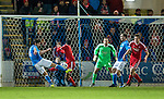 St Johnstone v Aberdeen...23.01.15   SPFL<br /> Simon Lappin scores for saints<br /> Picture by Graeme Hart.<br /> Copyright Perthshire Picture Agency<br /> Tel: 01738 623350  Mobile: 07990 594431