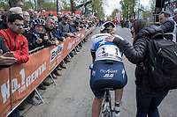 race winner Anna van der Breggen (NED/Boels Dolmans) after finishing <br /> <br /> La Flèche Wallonne Feminine 2017 (1.WWT)<br /> One Day Race: Huy › Mur de Huy (120km)