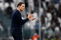 29th September 2021; Turin, Italy;   Juventus FC versus Chelsea FC - UEFA Champions League;  Thomas Tuchel, head coach of Chelsea FC, reacts during the UEFA Champions League football match Group H between Juventus Fc and Chelsea Fc at Allianz Stadium