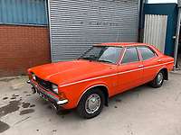 BNPS.co.uk (01202 558833)<br /> Pic: HampsonAuctions/BNPS<br /> <br /> Pictured: 1976 Ford Cortina XL.<br /> <br /> Since the 1990s, Geoff Barlow, 46, has collected dozens of classic cars from an Escort Mexico replica to several types of Transit, Cortina, and Sierra.<br /> <br /> However, he still regrets selling the first car which inspired his passion, a 1980 Escort Mark 2 he bought from his sister in 1992.  <br /> <br /> Geoff's fascination with Fords gathered pace in the last decade and he 'lost control,' buying as many Fords as he came across and saving them from disrepair.
