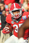 December 30, 2016: Georgia Bulldog running back Brian Herrien (35) in the second half of the AutoZone Liberty Bowl at Liberty Bowl Memorial Stadium in Memphis, Tennessee. ©Justin Manning/Eclipse Sportswire/Cal Sport Media