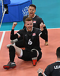 Mens sitting volleyball at the 2019 ParaPan American Games in Lima, Peru-24aug2019-Photo Scott Grant