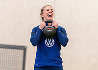 ORLANDO, FL - JANUARY 12: Julie Ertz #8 of the USWNT works out at the team hotel on January 12, 2021 in Orlando, Florida.
