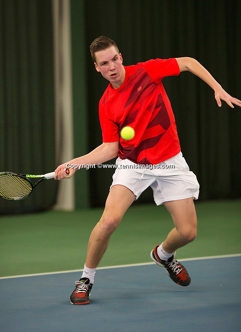 Rotterdam, The Netherlands, March 20, 2016,  TV Victoria, NOJK 14/18 years, Stijn Janssen (NED)<br /> Photo: Tennisimages/Henk Koster