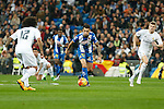 Espanyol´s Hernan Perez during 2015/16 La Liga match between Real Madrid and Espanyol at Santiago Bernabeu stadium in Madrid, Spain. January 31, 2016. (ALTERPHOTOS/Victor Blanco)