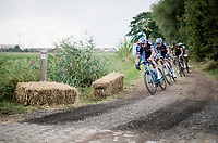 Mathieu van der Poel (NED/Alpecin-Fenix)<br /> <br /> Antwerp Port Epic / Sels Trophy 2021 (BEL)<br /> One day race from Antwerp to Antwerp (183km)<br /> <br /> The APC stands qualified as a 'road race', but with 36km of gravel and 28km of cobbled sections in and around the Port of Antwerp (BEL) this race occupies a unique spot in the Belgian race scene.<br /> <br /> ©kramon