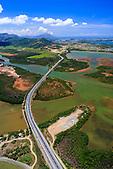 Pont de Dumbéa, voie E2 reliant Nouméa à Païta par le littoral, Nouvelle-Calédonie