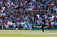 ST PAUL, MN - JULY 18: Emanuel Reynoso #10 of Minnesota United FC brings the ball forward during a game between Seattle Sounders FC and Minnesota United FC at Allianz Field on July 18, 2021 in St Paul, Minnesota.