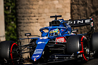 14 ALONSO Fernando (spa), Alpine F1 A521, action during the Formula 1 Azerbaijan Grand Prix 2021 from June 04 to 06, 2021 on the Baku City Circuit, in Baku, Azerbaijan -<br /> FORMULA 1 : Grand Prix Azerbaijan <br /> 05/06/2021 <br /> Photo DPPI/Panoramic/Insidefoto <br /> ITALY ONLY