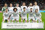 Real Madrid's team photo with Keylor Navas, Sergio Ramos, Toni Kroos, Raphael Varane, Karim Benzema, Cristiano Ronaldo, Lucas Vazquez, Marcelo Vieira, Marco Asensio, Daniel Carvajal and Luka Modric during La Liga match. February 10,2017. (ALTERPHOTOS/Acero)