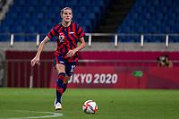 SAITAMA, JAPAN - JULY 24: Tierna Davidson #12 of the United States on the ball during a game between New Zealand and USWNT at Saitama Stadium on July 24, 2021 in Saitama, Japan.
