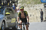 """Adam Yates (GBR) Mitchelton-Scott climbs towards the finish line atop the Col du Tourmalet 6'42"""" down at the end of Stage 14 of the 2019 Tour de France running 117.5km from Tarbes to Tourmalet Bareges, France. 20th July 2019.<br /> Picture: Colin Flockton 