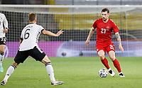2nd June 2021, Tivoli Stadion, Innsbruck, Austria; International football friendly, Germany versus Denmark;  Joshua Kimmich Germany covers Pierre Emile Hoejbjerg Denmark