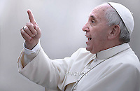 Pope Francis  during his weekly general audience in St. Peter square at the Vatican, Wednesday.October 28, 2015.