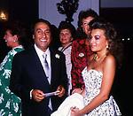 EMILIO FEDE CON ANTONIA DE MITA<br /> MATRIMONIO SIMONA FEDE E VITTORIO MARZOTTO - CAPRI 1986