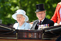 Queen and Prince Phillip<br /> during Trooping the Colour on The Mall, London. <br /> <br /> <br /> ©Ash Knotek  D3283  17/06/2017