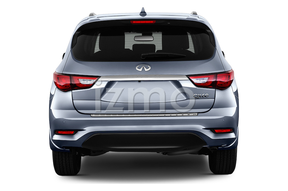 Straight rear view of 2016 Infiniti QX60 - 5 Door Suv Rear View  stock images
