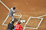 17 June 2012: New York Yankees catcher Chris Stewart in action against the Washington Nationals at Nationals Park in Washington, DC. The Yankees defeated the Nationals 4-1 to sweep their 3-game series. Mandatory Credit: Ed Wolfstein Photo
