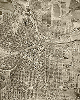 historical aerial photograph Reno, Nevada, 1953