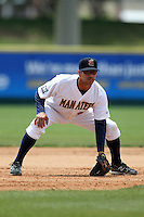 Brevard County Manatees second baseman Juan Sanchez #30 during a game against the Clearwater Threshers at Space Coast Stadium on April 30, 2012 in Viera, Florida.  Clearwater defeated Brevard County 5-1.  (Mike Janes/Four Seam Images)