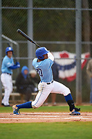 Indiana State Sycamores Sean Ross (20) bats during a game against the Dartmouth Big Green on February 21, 2020 at North Charlotte Regional Park in Port Charlotte, Florida.  Indiana State defeated Dartmouth 1-0.  (Mike Janes/Four Seam Images)