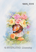 Ron, CUTE ANIMALS, Quacker, paintings, brown duck, flowers(GBSG6446,#AC#) Enten, patos, illustrations, pinturas
