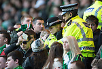 St Johnstone v Celtic.....26.12.13   SPFL<br /> Police officers check tickets of the Celtic fans<br /> Picture by Graeme Hart.<br /> Copyright Perthshire Picture Agency<br /> Tel: 01738 623350  Mobile: 07990 594431