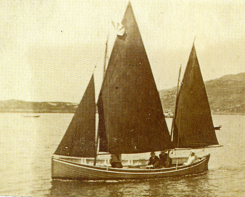 Conor O'Brien's first command, the 27ft former Naval whaler Mary Brigid at Derrynane