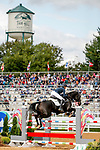 October 17, 2021: Valerie Pride (USA), aboard Favian, competes during the Stadium Jumping Final at the 5* level during the Maryland Five-Star at the Fair Hill Special Event Zone in Fair Hill, Maryland on October 17, 2021. Jon Durr/Eclipse Sportswire/CSM