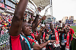 Kenya vs Japan during the HSBC Sevens Wold Series Shield Final match as part of the Cathay Pacific / HSBC Hong Kong Sevens at the Hong Kong Stadium on 29 March 2015 in Hong Kong, China. Photo by Manuel Bruque / Power Sport Images