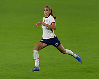 ORLANDO CITY, FL - FEBRUARY 18: Alex Morgan #13 during a game between Canada and USWNT at Exploria stadium on February 18, 2021 in Orlando City, Florida.