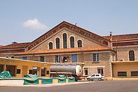 The cave cooperative Les Coteaux de Saint Pargoire. St Pargoire. Languedoc. The winery building. France. Europe.