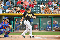 Alex Yarbrough (9) of the Salt Lake Bees at bat against the Las Vegas 51s in Pacific Coast League action at Smith's Ballpark on June 25, 2015 in Salt Lake City, Utah. Las Vegas defeated Salt Lake 20-8.  (Stephen Smith/Four Seam Images)