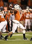 Texas Longhorns quarterback Garrett Gilbert (7) in action during the Texas A & M vs. Texas Longhorns football game at the Darrell K Royal - Texas Memorial Stadium in Austin, Tx. Texas A & M defeats Texas 24 to 17....