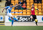 St Johnstone v Partick Thistle…29.10.16..  McDiarmid Park   SPFL<br />Michael Coulson's shot goews wide<br />Picture by Graeme Hart.<br />Copyright Perthshire Picture Agency<br />Tel: 01738 623350  Mobile: 07990 594431